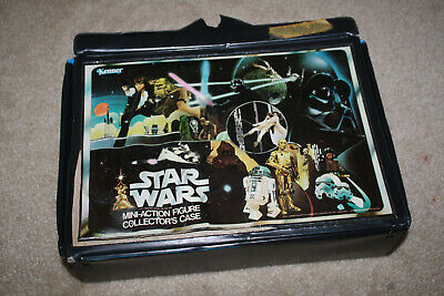 2 Plastic Carrying Case - Vintage Star Wars Plastic Carrying Case w/2 Figure Trays 1977 Kenner - J630