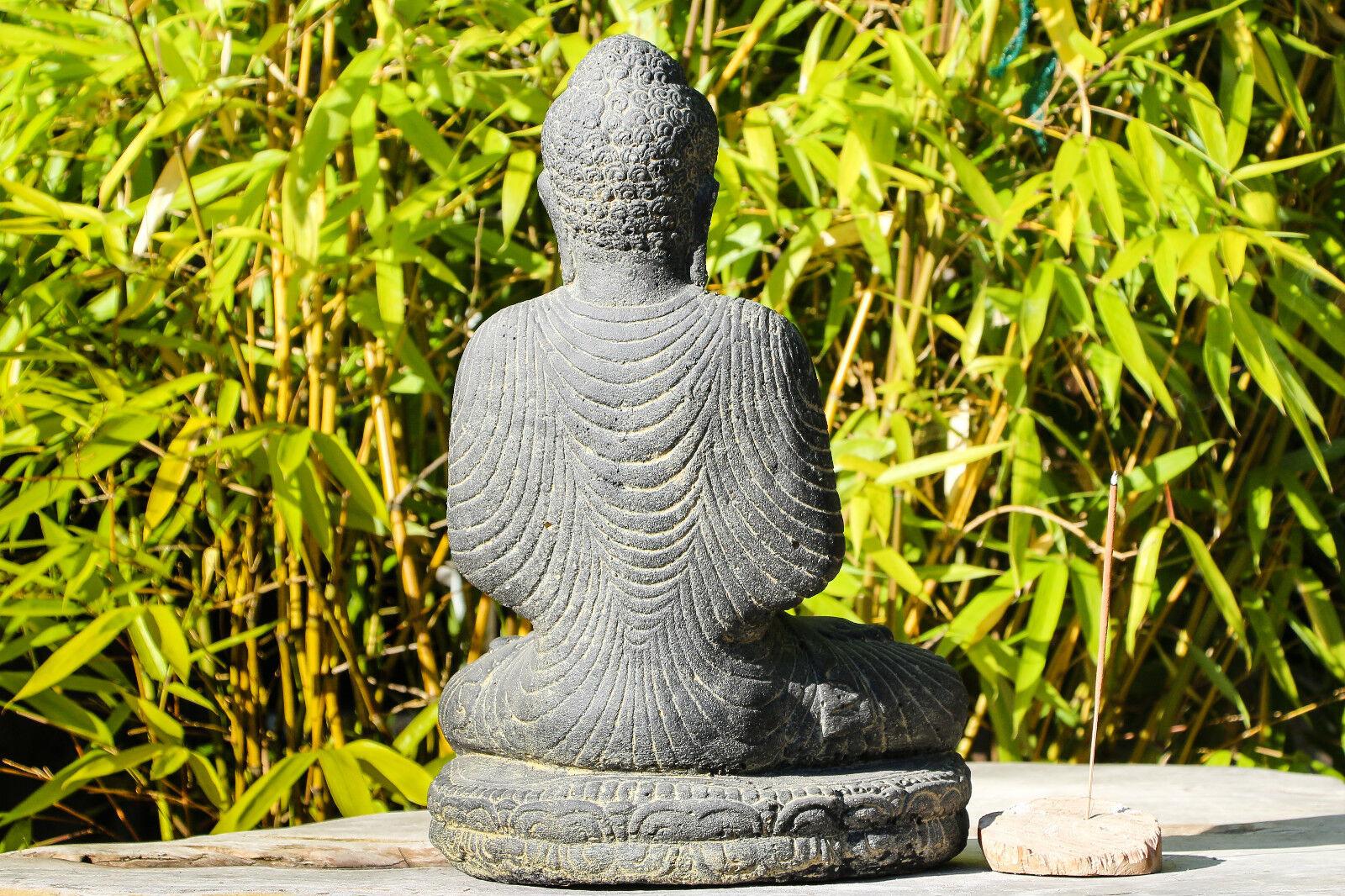 gr ender buddha indonesien lavastein skulptur statue feng. Black Bedroom Furniture Sets. Home Design Ideas