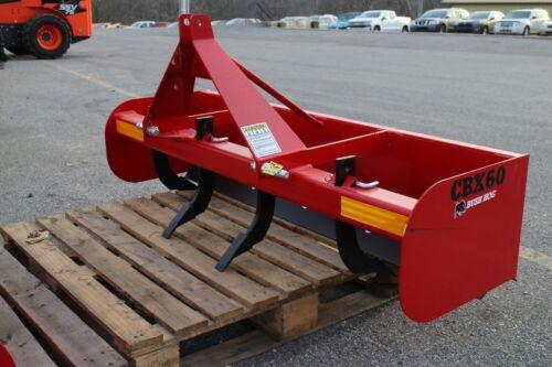 "Bush Hog CBX60 60"" Box Blade Attachment for Sub-Compact Tractors. Category 1"
