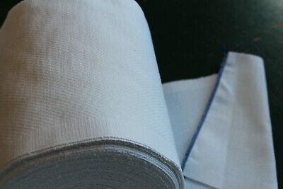 10m Baumwollstoff 0,80m weiß kochfest 20,5cm breit, BIOBaumwolle