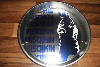 SERVIERTABLETT von PUSCHKIN -- Durchmesser 34 cm