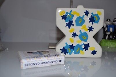 !! NEW !!  Ceramic Mini Menorah with Candles