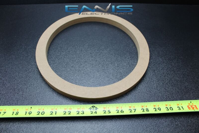 1 MDF SPEAKER RING SPACER 10 INCH WOOD 3/4 THICK FIBERGLASS BOX ENCLOSE RING-10R