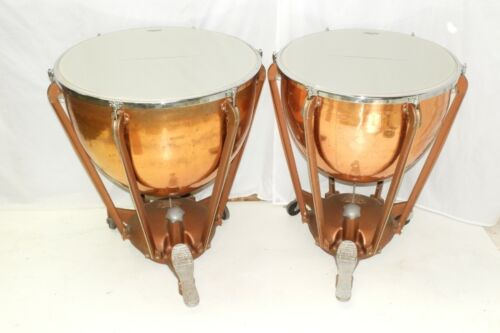 Pair of Ludwig Copper Timpani Drums  New Remo Heads Free Shipping Tympani