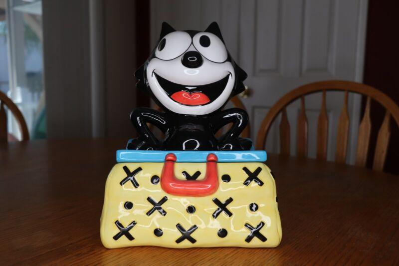 Magic Bag Felix Ceramic Cookie Jar - Felix The Cat In Original Box