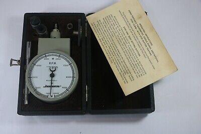 Vintage Jones Model 1600-7 Hand Tachometer Stop Button Feature 1000-10000 Rpm