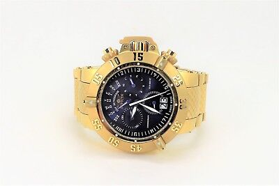Invicta Men's Rare 17617 Subaqua Swiss Chronograph Blue Dial Watch Gold Tone