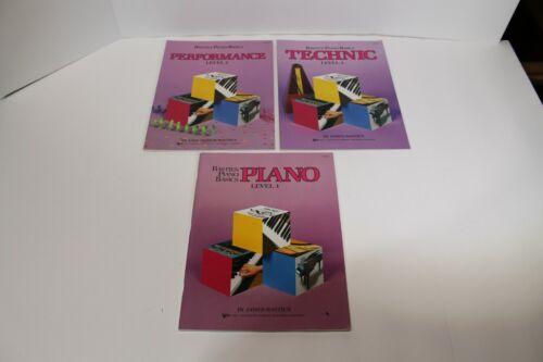 Bastien Piano Basics Lot of 3 Books~ Performance & Technic & Level 1