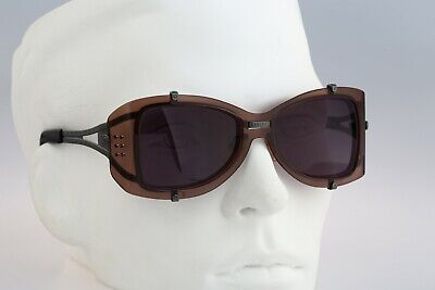 Jean Paul Gaultier 56-6204 Vintage 90s side shields steampunk sunglasses nos