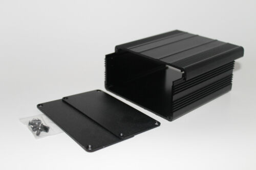Black Aluminum PCB instrument Box Enclosure DIY Project 100*100*50mm