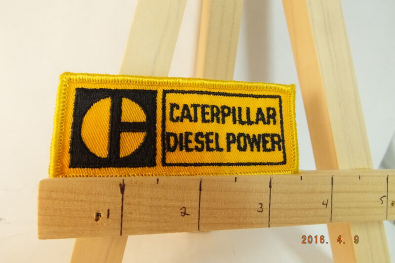 """Caterpillar Diesel Power Iron-on Embroidered Patch  3.5"""""""