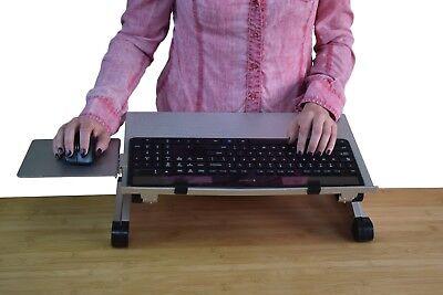 Workez Keyboard Tray Adjustable Height Computer Stand On Desk Riser Holder Tilt
