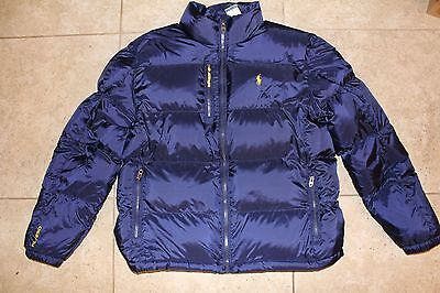 NWT POLO RALPH LAUREN Men's Quilted Puffer Down Jacket L NAVY BLUE