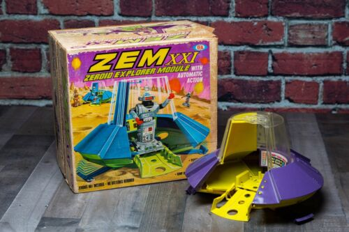 Zeroid Zem XXI Explorer Module Vintage Space Ship for Robots Orig Box Ideal Toys