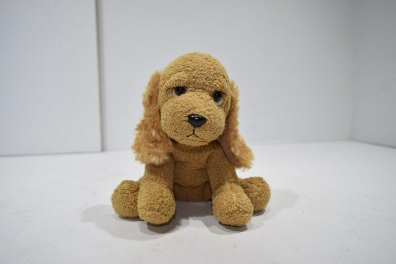Russ Berrie Dudley Plush Puppy Dog Beanie Tan Cocker Spaniel