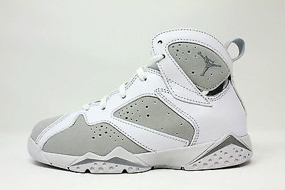 New Air Jordan Kid's Retro 7 (PS) Shoes (304773-120)  White/Met Silver-Platinum
