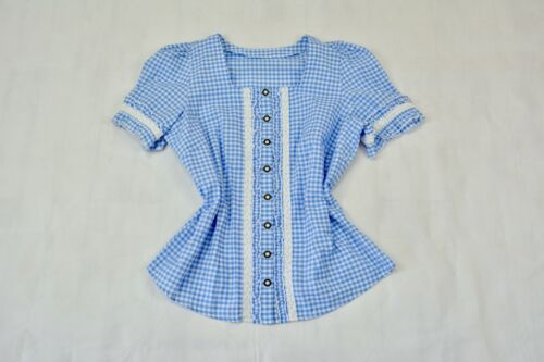 Bavarian Oktoberfest Dirndl blouse Size L Germany Trachten blouse