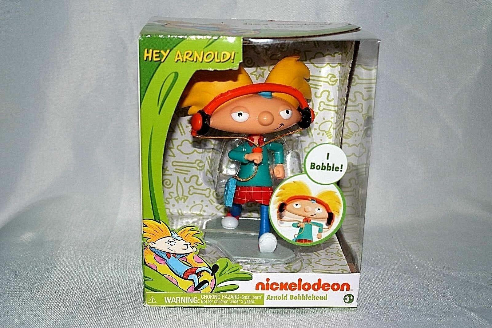 "6/"" Vinyl Figure JUST PLAY Nickelodeon 2017 MIB BOBBLEHEAD HEY ARNOLD"