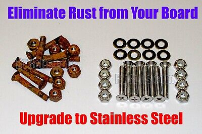 "Stainless Truck Hardware • 1.25"" for Skateboard • Longboard • Screws/Bolts • USA"
