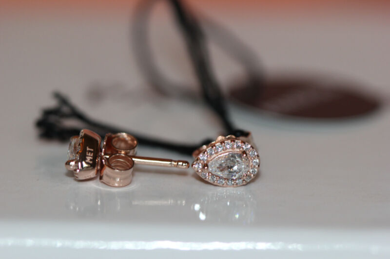 3112a242b ... AUTHENTIC NEW PANDORA ROSE™ LUMINOUS ICE EARRINGS 287567CZ w/ hinged  box and tag