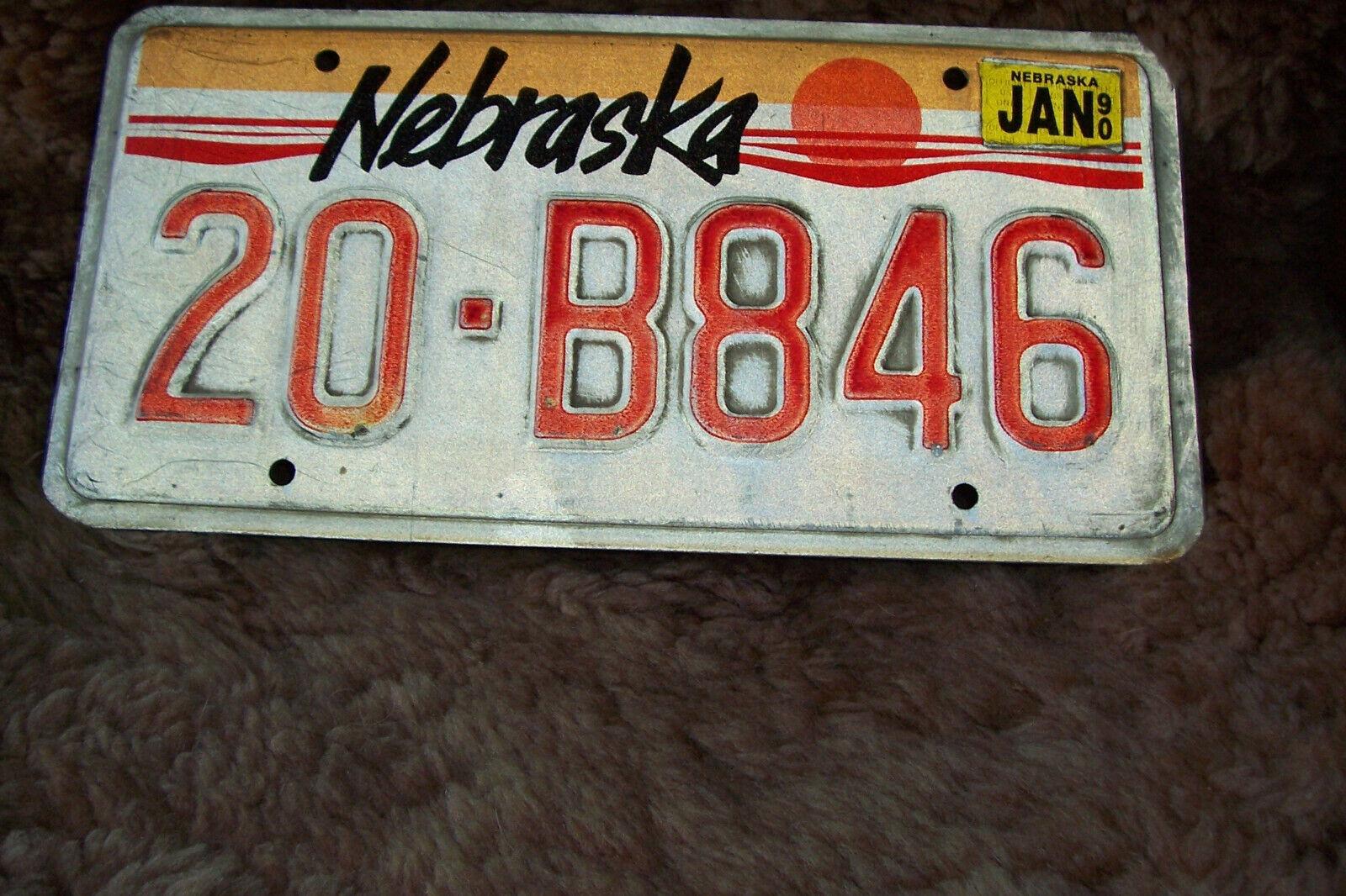 Nebraska Nummernschild - 30 Jahre alt - original license plate aus den USA