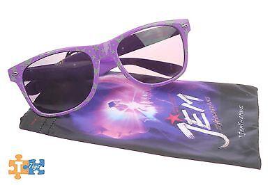 "Jem & the Holograms Promotional Movie Sunglasses Purple w/ Stars ""NEW"""