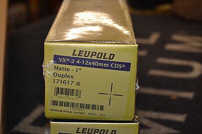 "Leupold VX-2 4-12x40mm Rifle Scope Hunting CDS Matte 1"" Duplex 171617"