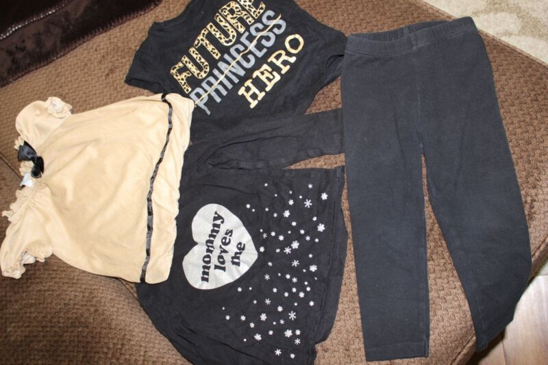 Beautiful - 4 Pieces For Your Little Girl - Size 18-24 Months And 2t