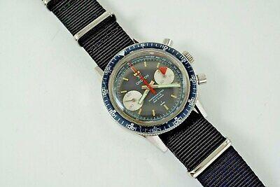 CROTON CHRONOMETER AVIATOR SEA DIVER CHRONOGRAPH STAINLESS STEEL DATES 1960
