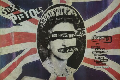 "SEX PISTOLS ""GOD SAVE THE QUEEN"" POSTER FROM ASIA - Classic Punk Rock Artwork"