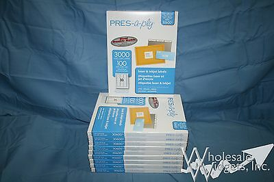 10 Boxes 30k Avery 5160 Template Address Labels Pres-a-ply Brand Made By Avery