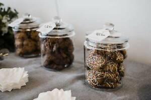 DIY Cookie Bar - Set of 4 Large Glass Jars