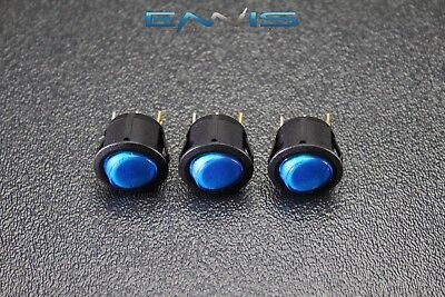 3 Pcs Round On Off Rocker Switch Mini Toggle Blue Led 34 Mount Hole Ec-1217bl