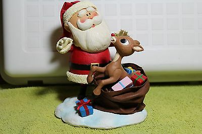 "RUDOLPH THE RED-NOSED REINDEER ""SANTA WITH RUDOLPH & BAG OF PRESENTS"" LARGE"