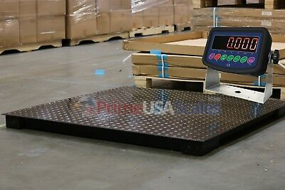7000 Lb Capacity 1 Lb Accuracy 4x4 Floor Pallet Scale Industrial 48 X 48