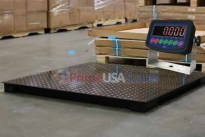 7000 Lb Capacity 1 Lb Accuracy 4x4 Floor Pallet Scale Industrial 48 X 48