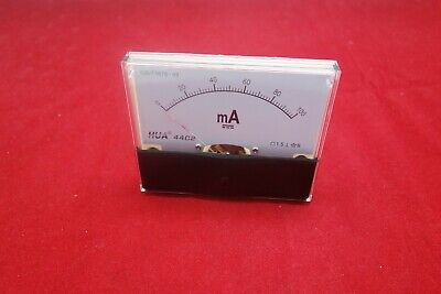 1pc Dc 100ma Analog Ammeter Panel Current Meter 44c2 80100mm Dc Direct Connect