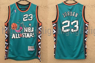NWT Michael Jordan #23 NBA 1996 All Star Jersey Throwback Retro Stitched