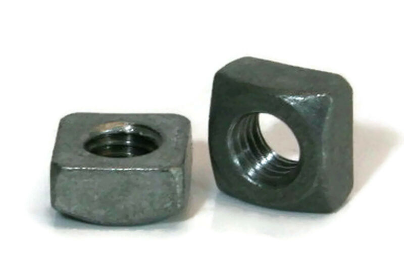 """Square Nuts Hot Dipped Galvanized Grade 2 - 7/16""""-14 UNC - Qty-25"""