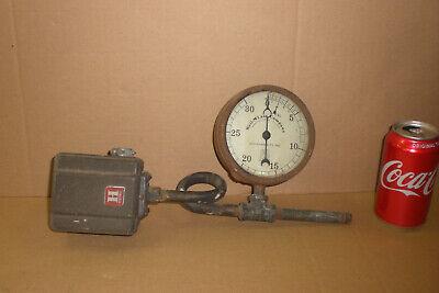 Vintage Weil-mclain Pressure Gauge Honeywell Switch Antique Steampunk Parts