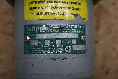 Appleton Acp1044cd Powertite Plug 100a600v