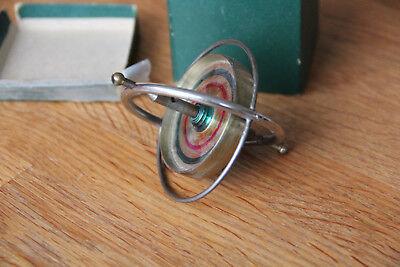 Gyroscope ancien dans sa boîte  et mode d'emploi jouet enfant