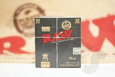 Roll Of Black Paper (FULL BOX 50 PACKS OF AUTHENTIC RAW BLACK DOUBLE PRESSED ROLLING PAPER KING)