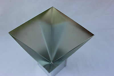 """4"""" x 4"""" Four Sided Pyramid CANDLE MOLD Metal NEW"""