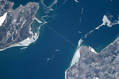 MACKINAC BRIDGE-Seen from the INTERNATIONAL SPACE STATION-Expedition 55 PHOTO