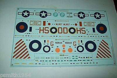 AIRFIX D.H. MOSQUITO B / PR XVI 07112 1:48 scale decals