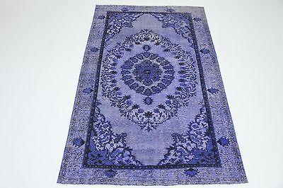 Dekorativ Vintage Teppich modern  300x190 lila edel 3D Relief handgeknüpft T3079 - Dekorative Teppiche Moderne Teppiche