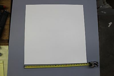 .030 Thick Snow White Polypropylene Plastic Sheet 24 X 24 Light Diffusing