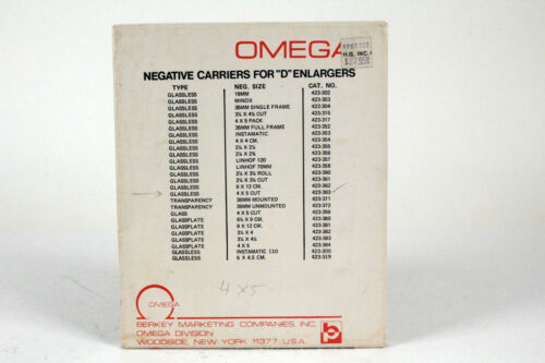 Omega D 4x5  negative carrier #423-363