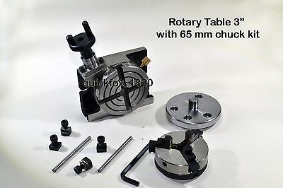Rotary Table 375 Mmchuck 65 Mm Self Centering Jaws - Ratio 381